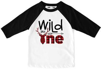 "Sprinkles And Jam ""Wild and One"" Wild One 1st Birthday Boy Shirt"