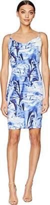 Nicole Miller Women's Faux Metal Carly Tuck Dress