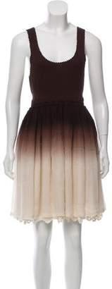 Alice + Olivia Sleeveless Ombré Midi Dress