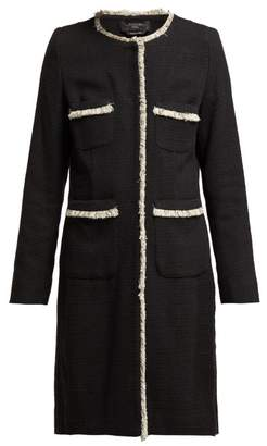 Max Mara Ottico Coat - Womens - Black Multi