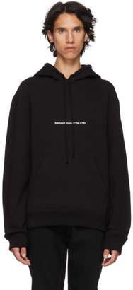 Calvin Klein Black American Flags And Buildings Hoodie