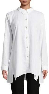 Eileen Fisher Classic Collar Button-Down Shirt