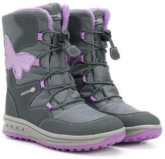 Geox Kids Butterfly lace-up boots