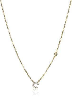 """Tai Initial Pave """"C"""" Chain Necklace, 16"""" + 2"""" Extender"""