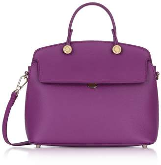 Furla Genuine Leather My Piper Small Satchel