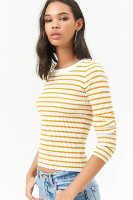 Forever 21 Striped Ribbed Sweater