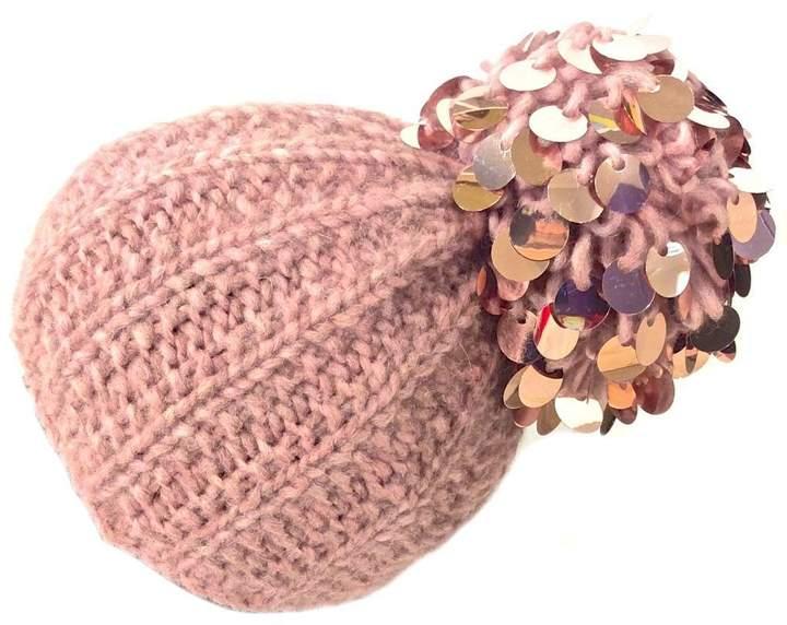 Grevi Pink Paillette Beanie