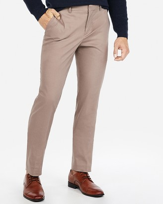 Express Slim Performance Stretch Easy Care Cotton Suit Pant