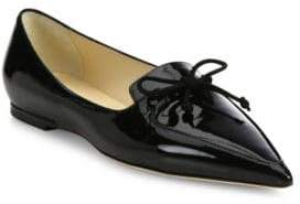 Jimmy Choo Genna Patent Leather Point Toe Flats