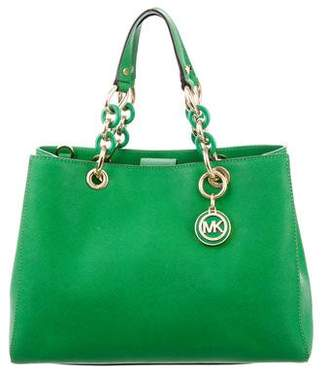 MICHAEL Michael Kors Leather Cynthia Satchel