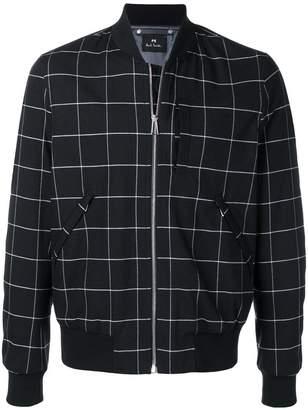 Paul Smith check print bomber jacket