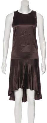 Brunello Cucinelli Silk High-Low Dress