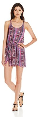 Lucky Brand Women's Desert Dancer Rayon Cover Up Wrap Dress with Drawstring Waist $36.64 thestylecure.com