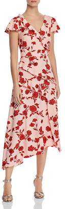 Adrianna Papell Living Blooms Ruffled Dress