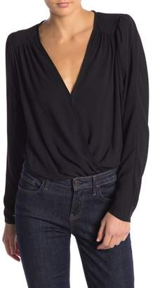ASTR the Label Drape Front Long Sleeve Bodysuit