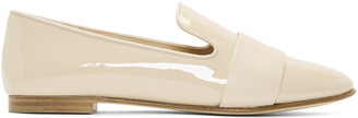 Giuseppe Zanotti Beige Patent Leather Band Loafers $595 thestylecure.com