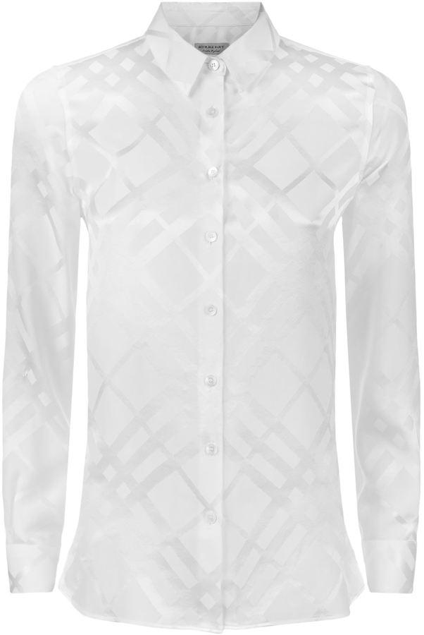 Burberry Tonal Check Silk Shirt