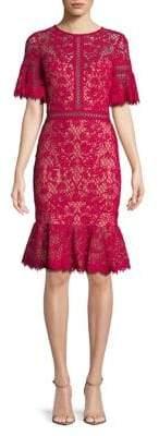 Tadashi Shoji Ruffle Lace Sheath Dress
