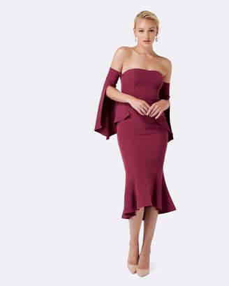 Forever New Brooke Fishtail Long Sleeve Dress