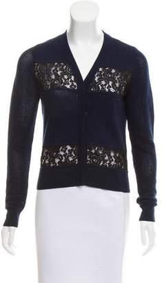 Diane von Furstenberg Wool Lace Cardigan