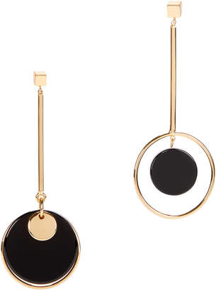 Jardin Mismatched Circle Drop Earrings
