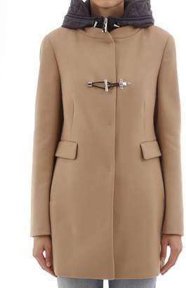 Fay Camel Coat With Hood