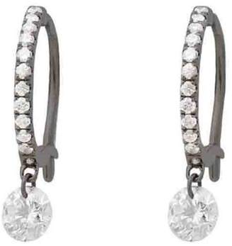 Raphaele Canot Set Free Diamond Mini Hoop Earrings - Blackened Gold