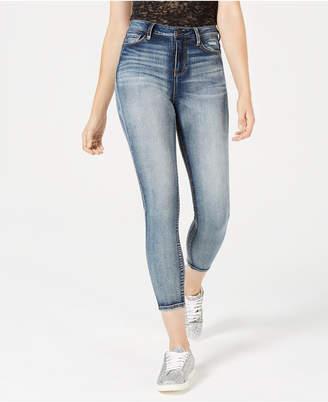 Vanilla Star Juniors' Super High-Rise Ripped Skinny Jeans