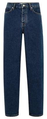 Topman Mens Blue Red Cast Baggy Fit Jeans