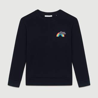 Maje Graphic fleece sweatshirt