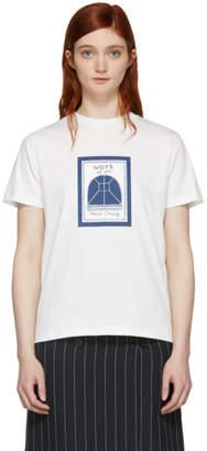 ALEXACHUNG Off-White Work of Art Boxy T-Shirt