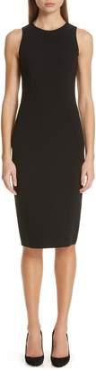Michael Kors Stretch Wool Crepe Sheath Dress
