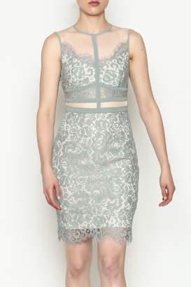 Mystic Lace Mesh Dress