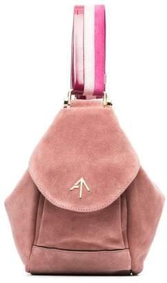 Atelier Manu pink Fernweh mini suede tote