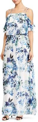Lauren Ralph Lauren Cold-Shoulder Floral Georgette Gown