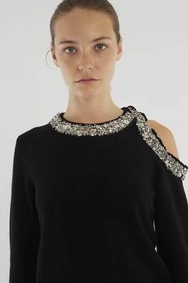 3.1 Phillip Lim Jeweled-Neck Cashmere Sweater