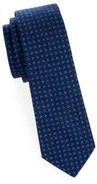 Tri Dot Slim Cotton Tie