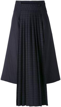 Off-White pinstripe pleated detail skirt