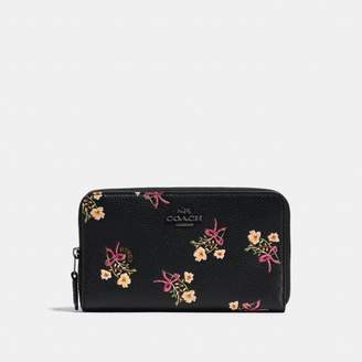 Coach New YorkCoach Medium Zip Around Wallet With Floral Bow Print
