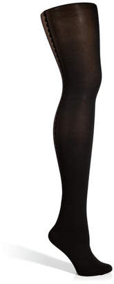 Fogal Black/Black Bijoux Tights with Silver Swarovski Crystals