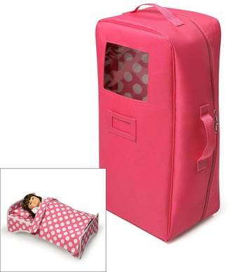 Badger Basket 2-in-1 Doll Travel Case & Bed