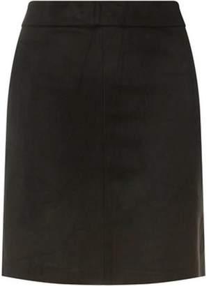 Dorothy Perkins Womens Black Suedette Skirt