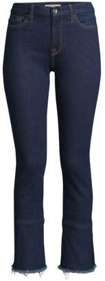 7 For All Mankind Jen7 By Ruffled Cropped Ankle Jeans