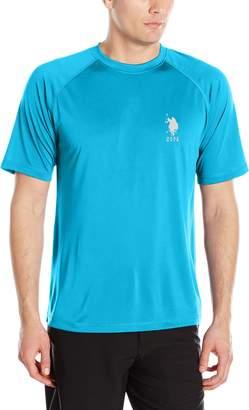 U.S. Polo Assn. Mens Rash Guard UPF 50+ Swim T-Shirt