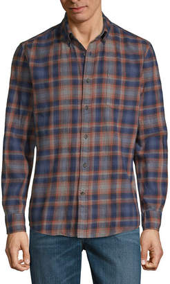 ST. JOHN'S BAY Mens Long Sleeve Flannel Shirt
