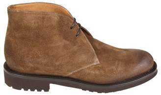 Doucal's Lace Up Ankle Brown Suede