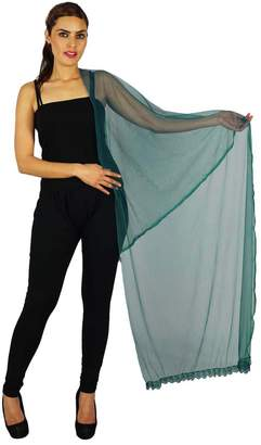 ibaexports Indian Neck Wrap Long Stole Net Chunni Fashion Scarf Women Hijab Dupatta