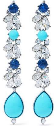 Ben-Amun Silver-Tone Swarovski Crystal And Stone Earrings