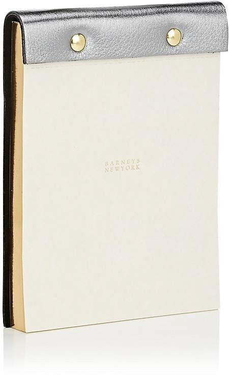Grained-Leather-Bound Notepad
