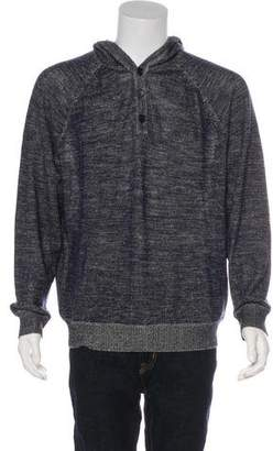Vince Knit Hooded Sweatshirt